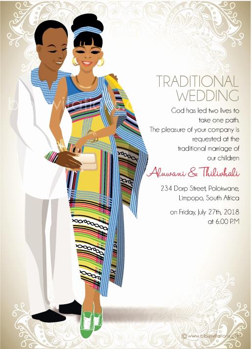 Ethiopian Wedding Invitation Cards Unique Funanani Venda Traditional Wedding Invitation Card