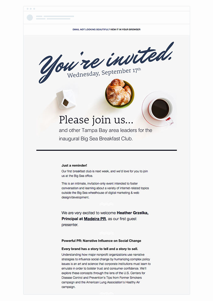 Event Invitation Email Template Awesome 4 event Invitation Emails that Draw Crowds