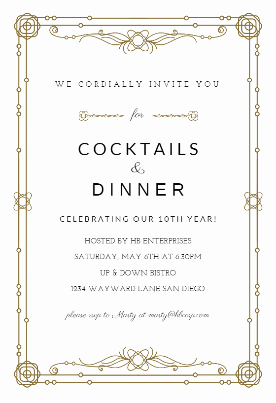 Event Invitation Email Template Best Of Classic Border Business event Invitation Template Free
