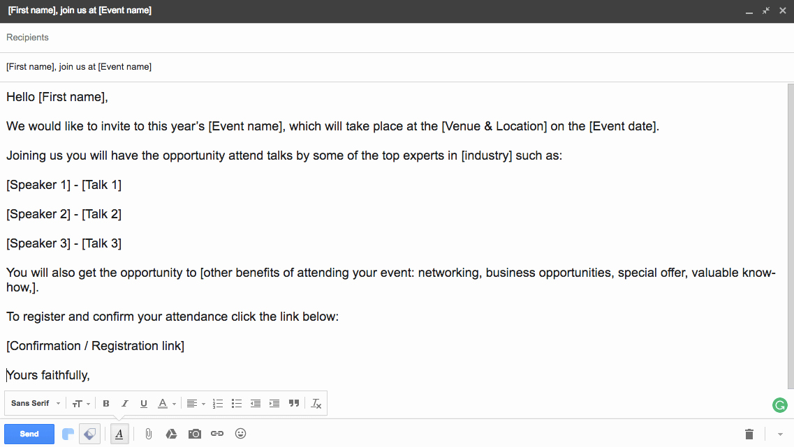 Event Invitation Email Template Inspirational 6 event Email Templates for Planners Part 1 Email