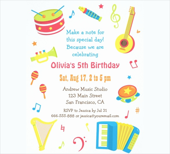 Example Of Birthday Invitation Beautiful Birthday Party Invitation Templates