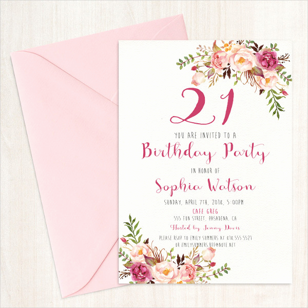 Example Of Birthday Invitation Best Of 31 Examples Of Birthday Invitation Designs Psd Ai