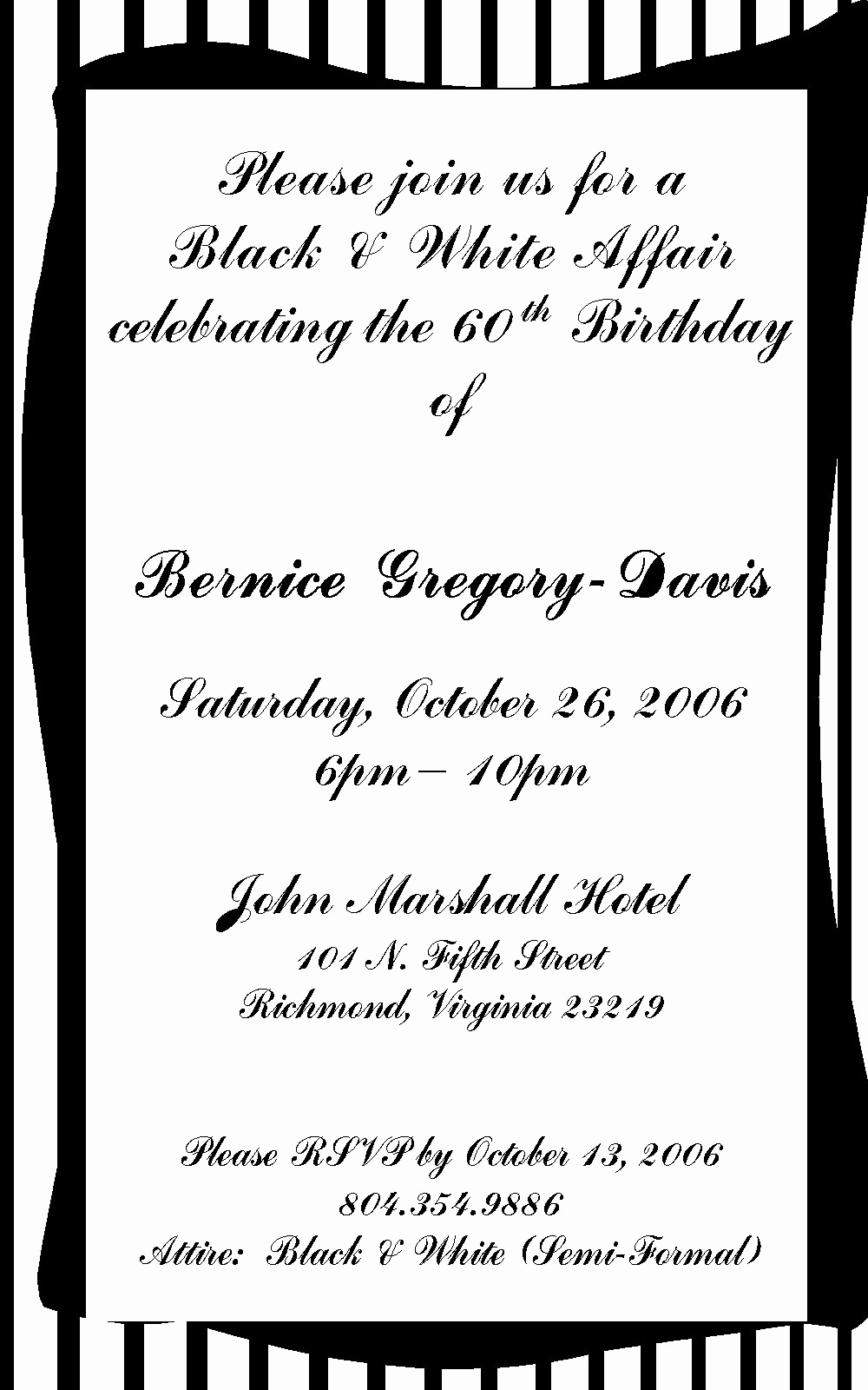 Example Of Birthday Invitation Best Of 60 Birthday Invitation Wording Samples