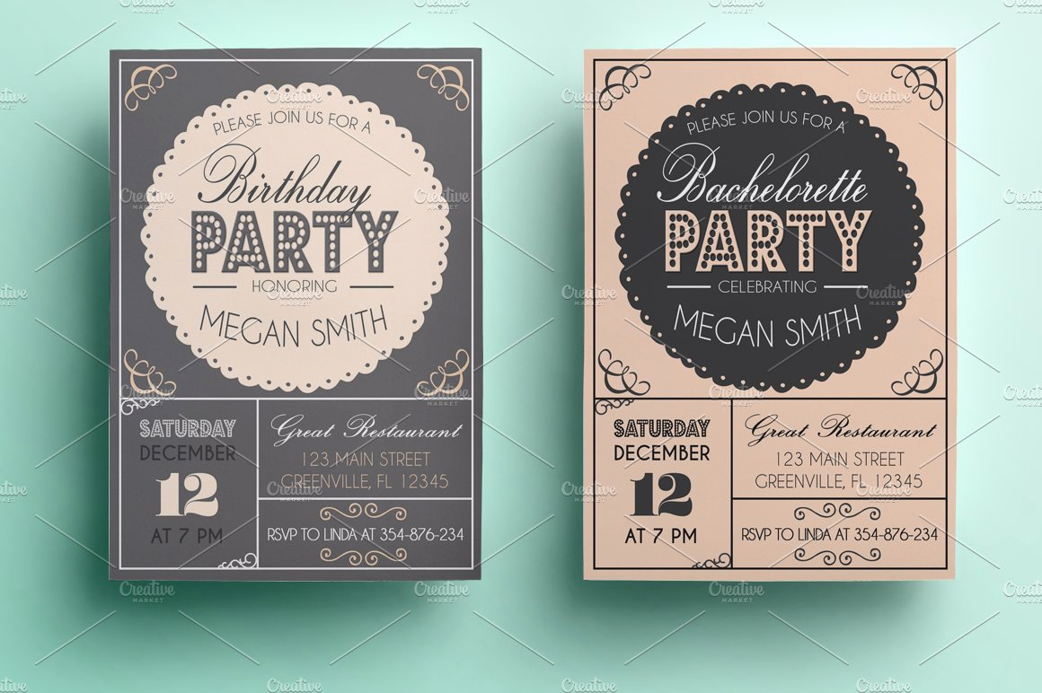 Example Of Birthday Invitation Elegant Bachelorette Birthday Invitation Invitation Templates