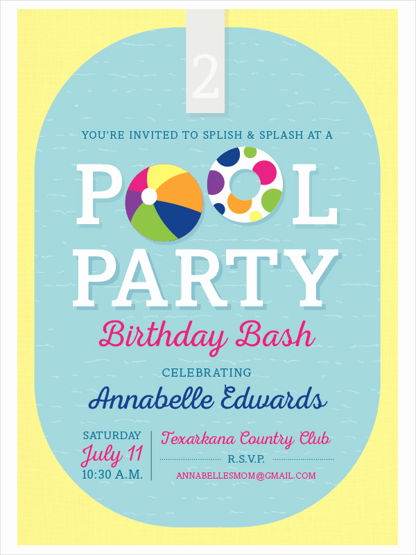Example Of Birthday Invitation Inspirational 55 Party Invitation Designs & Examples Psd Ai Eps