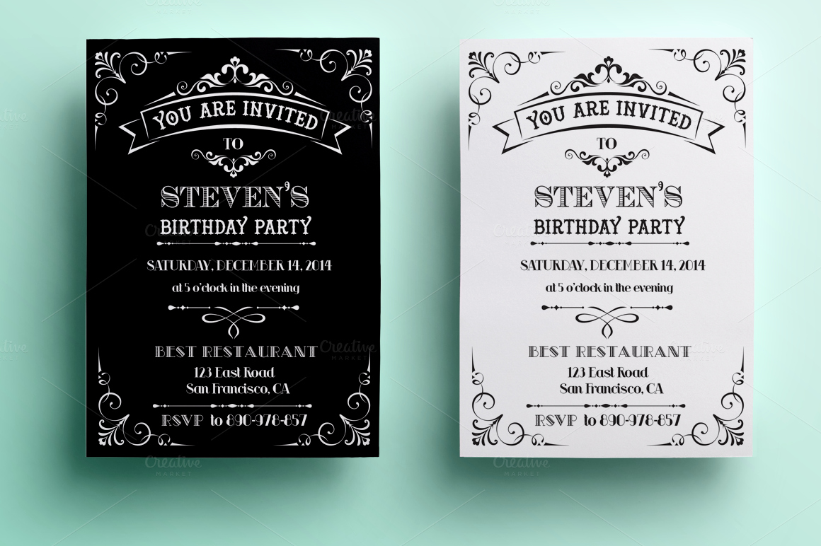Example Of Birthday Invitation Luxury Vintage Birthday Invitation Invitation Templates On