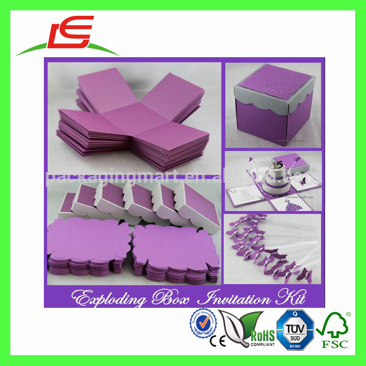 Exploding Box Invitation Kit Awesome Q1150 Foldable Cheap Creative Wedding Door Gift Box