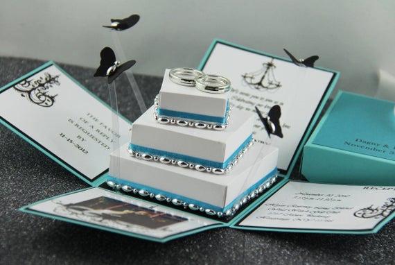 Exploding Box Invitation Kit Elegant Unavailable Listing On Etsy