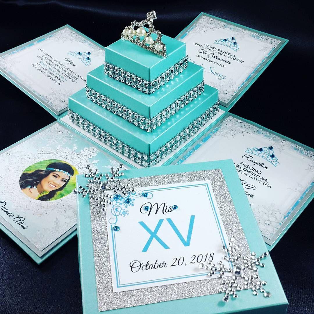 Exploding Box Invitation Kit Fresh Creative Winterwonderland Quinceanera Invitations This