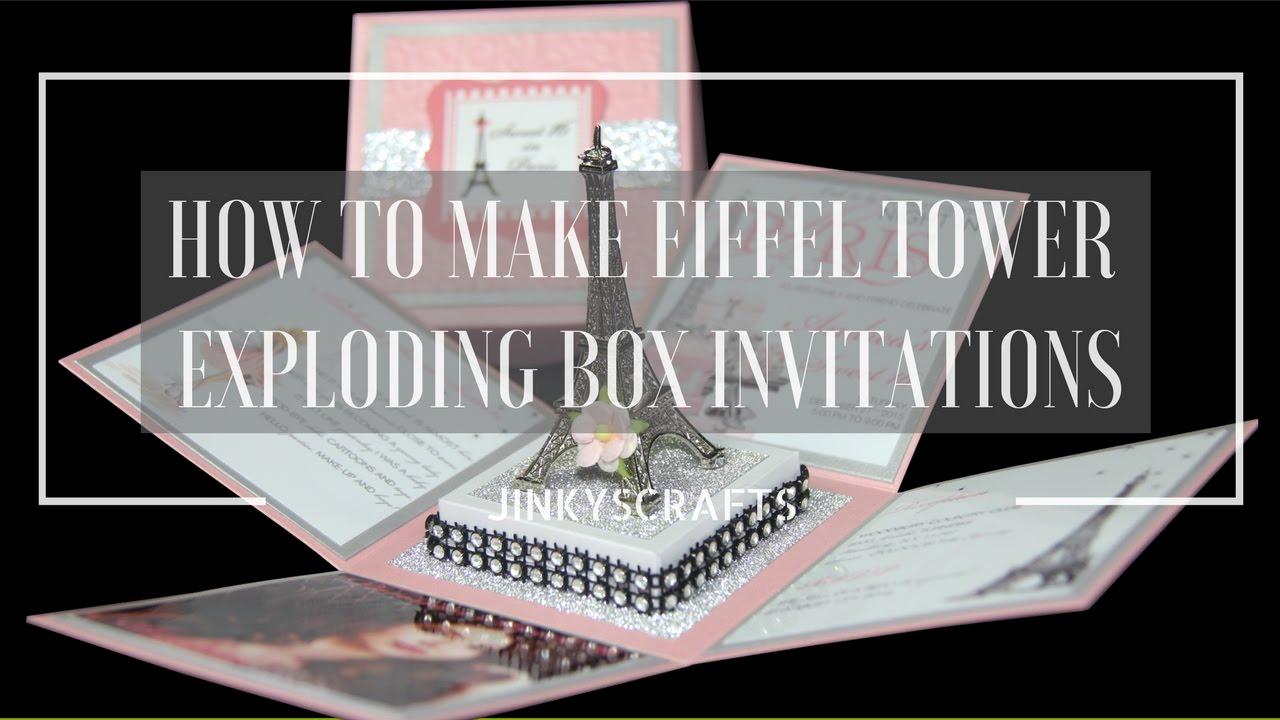 Exploding Box Invitation Kit Fresh How to Make Diy Eiffel tower Exploding Box Invitation