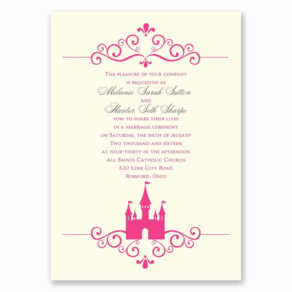 Fairytale Wedding Invitation Wording Best Of Fairy Tale Castle Invitation