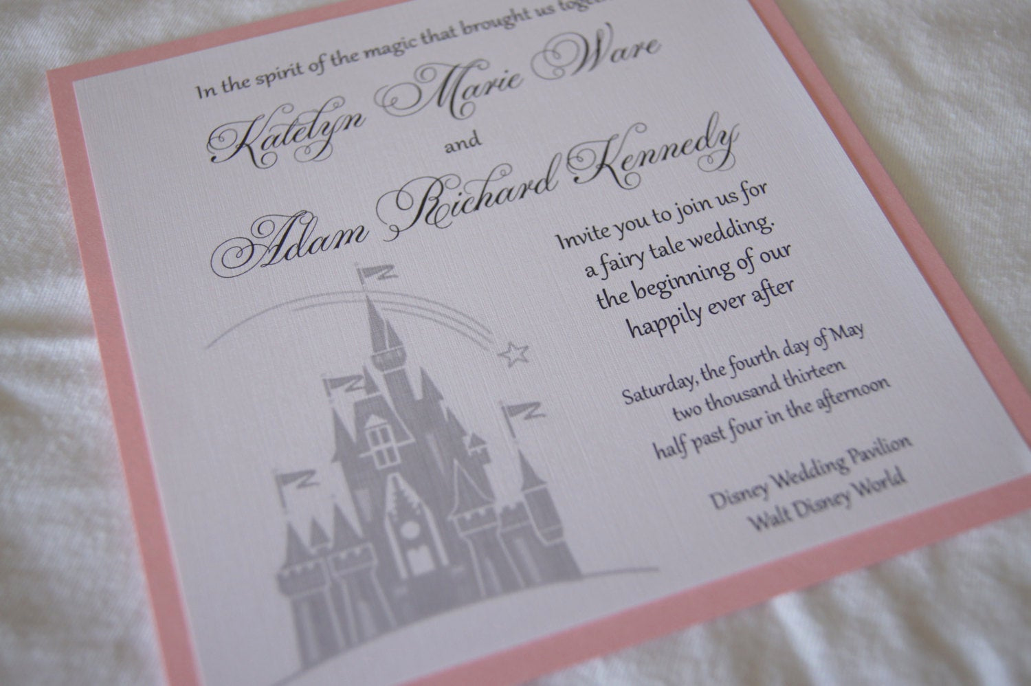 Fairytale Wedding Invitation Wording Elegant Custom Fairytale Castle Wedding Invitation Sample