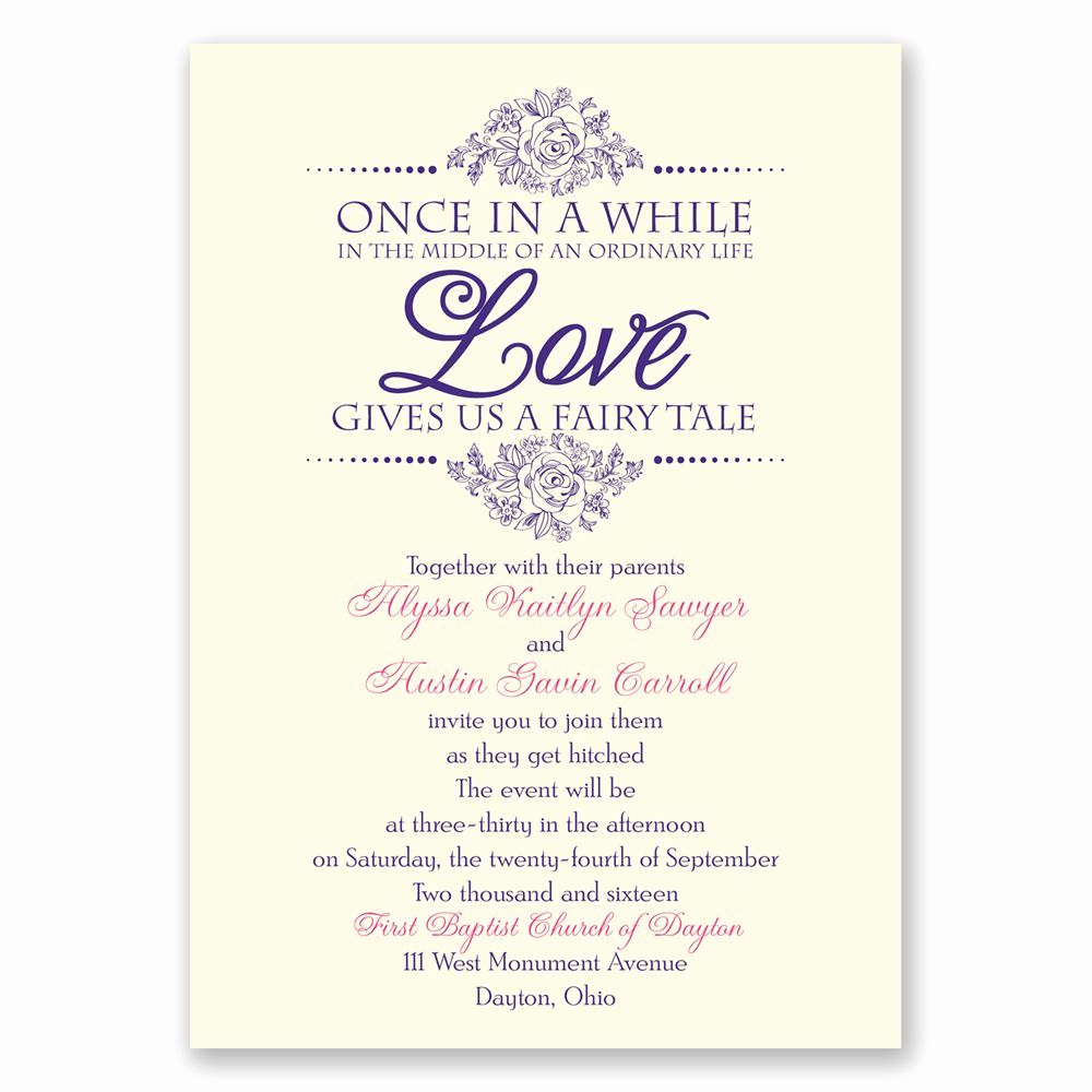 Fairytale Wedding Invitation Wording Elegant Fairy Tale Love Invitation