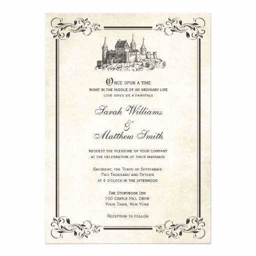 Fairytale Wedding Invitation Wording Unique Fairytale Castle Wedding Invitations