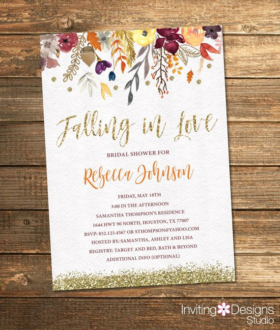 Fall Invitation Templates Free Beautiful Best 25 Bridal Shower Fall Ideas On Pinterest