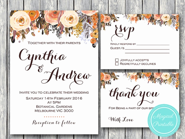 Fall Invitation Templates Free Elegant Wedding Invitations Template 9 Free Psd Vector Eps