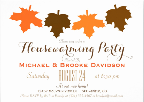 Fall Invitation Templates Free Fresh 23 Housewarming Invitation Templates Psd Ai
