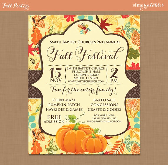 Fall Invitation Templates Free Fresh Fall Festival Harvest Invitation Poster Pumpkin Patch Farm
