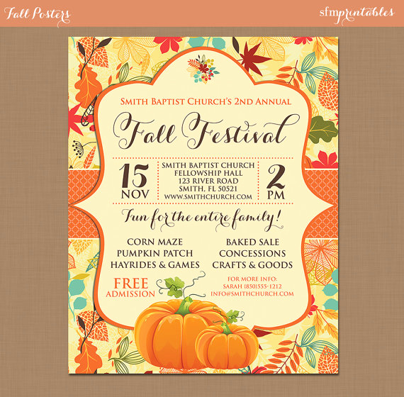 Fall Invitation Templates Free Lovely Fall Festival Harvest Invitation Poster Pumpkin Patch