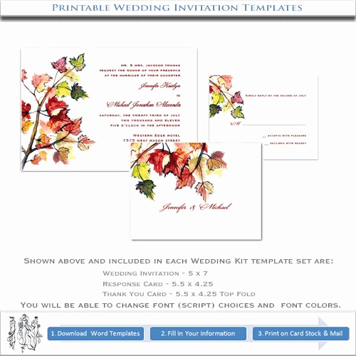 Fall Invitation Templates Free New Free Autumn Invitations to Print
