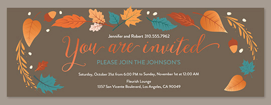 Fall Invitation Templates Free New Free Line Thanksgiving Dinner Invitations
