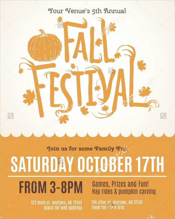 Fall Invitation Templates Free Unique 25 Fall Flyer Templates Word Ai Psd Eps Vector