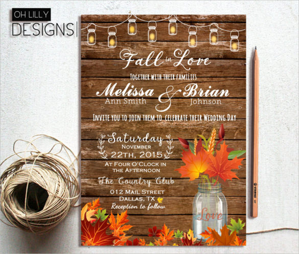 Fall Invitation Templates Free Unique 37 Traditional Wedding Invitation Templates – Psd Ai