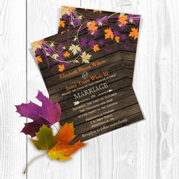 Fall Wedding Invitation Templates Beautiful Items Similar to Printable Wedding Invitation Template