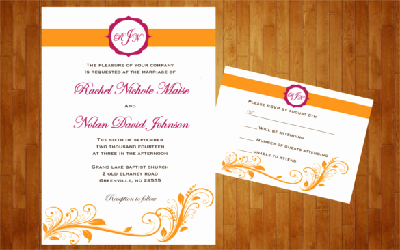 Fall Wedding Invitation Templates Best Of 26 Fall Wedding Invitation Templates – Free Sample