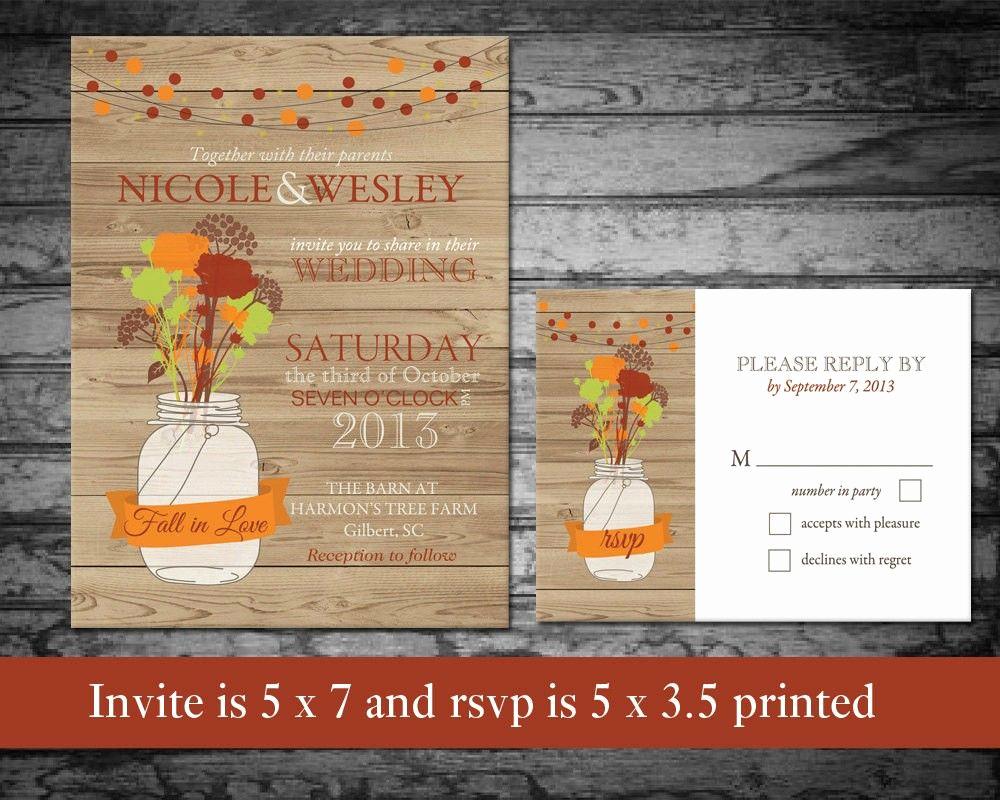 Fall Wedding Invitation Templates Best Of Diy Fall Wedding Invitation Template – Fasync Invitation