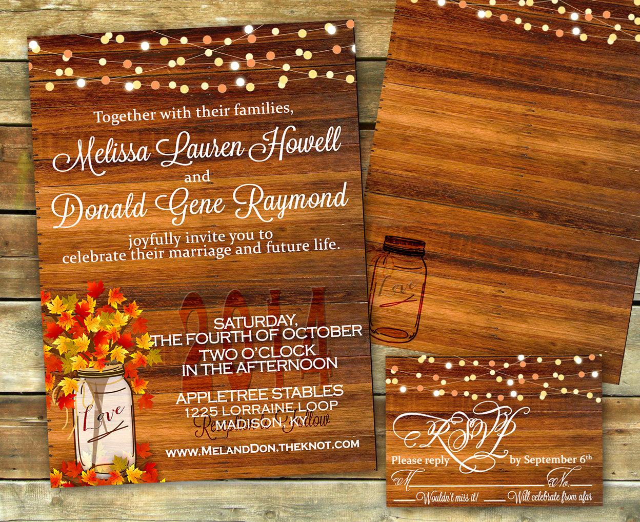 Fall Wedding Invitation Templates Best Of Rustic Fall Wedding Invitation Shower Invitation Fall