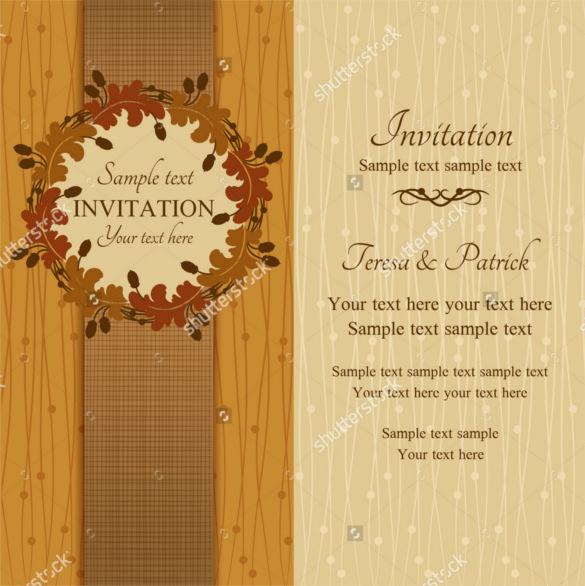 Fall Wedding Invitation Templates Fresh 26 Fall Wedding Invitation Templates – Free Sample
