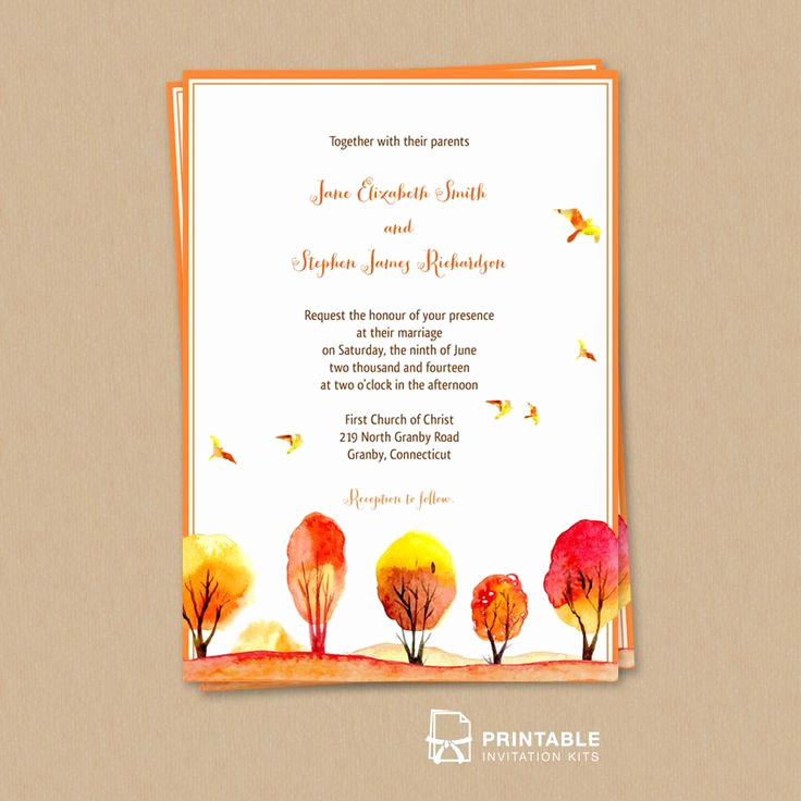 Fall Wedding Invitation Templates Lovely 210 Best Wedding Invitation Templates Free Images On