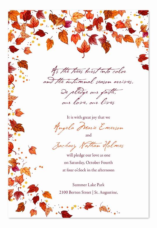 Fall Wedding Invitation Templates Luxury Best 25 Fall Wedding Invitations Ideas On Pinterest