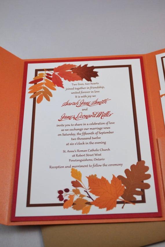 Fall Wedding Invitation Templates Luxury Items Similar to Printable Pdf Fall Wedding Invitations
