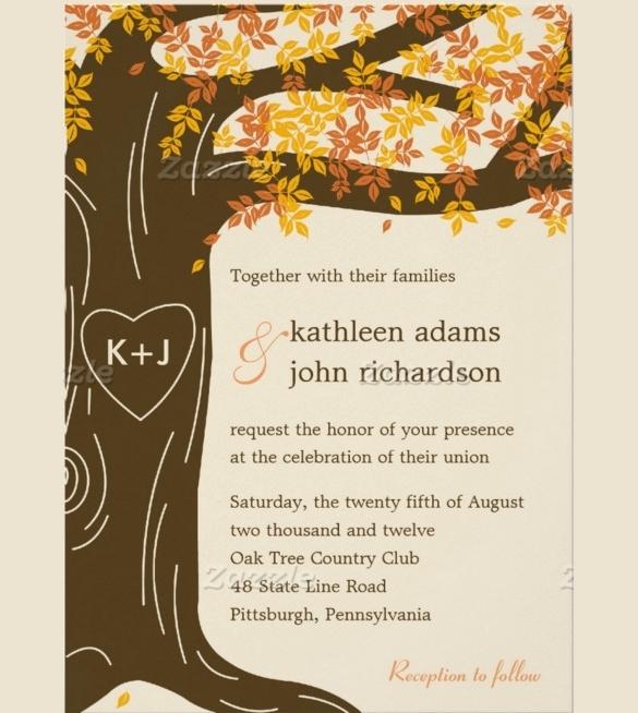Fall Wedding Invitation Templates New Fall Invitation Templates Cobypic
