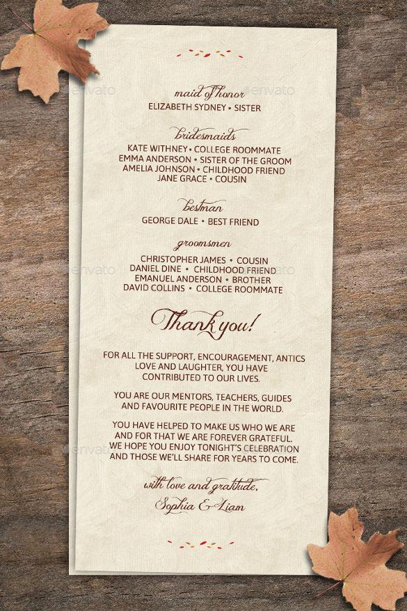 Fall Wedding Invitation Templates Unique 26 Fall Wedding Invitation Templates – Free Sample