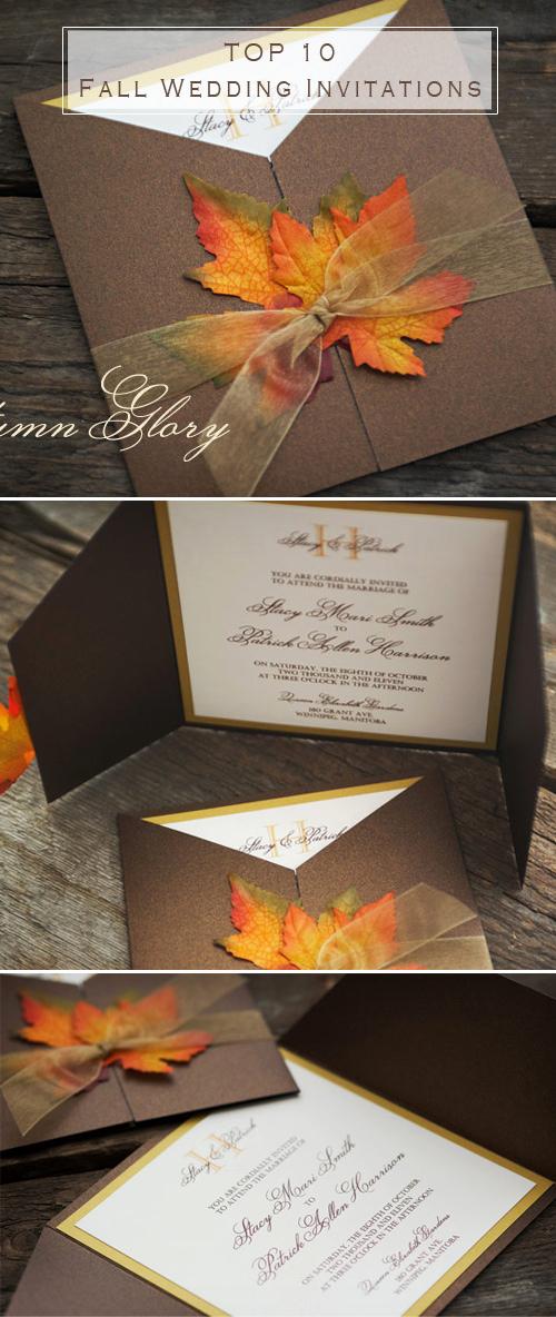 Fall Wedding Invitation Templates Unique Fall Wedding Invitations
