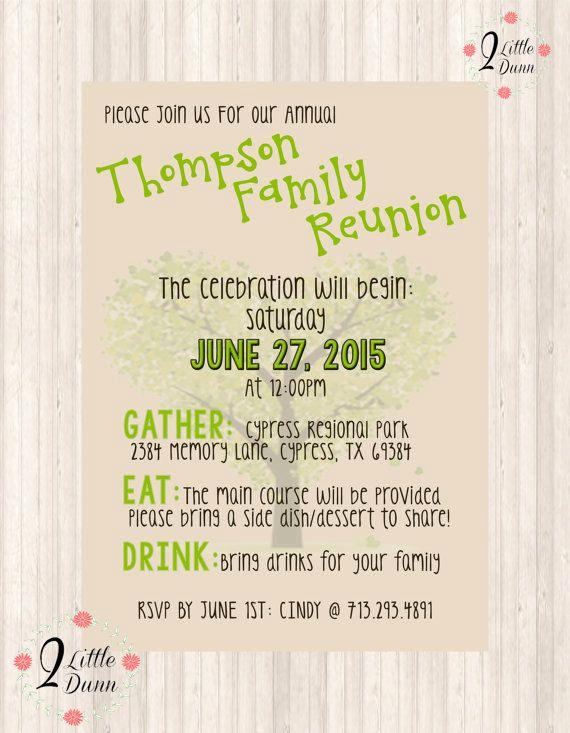 Family Reunion Invitation Ideas Awesome 25 Unique Family Reunion Invitations Ideas On Pinterest