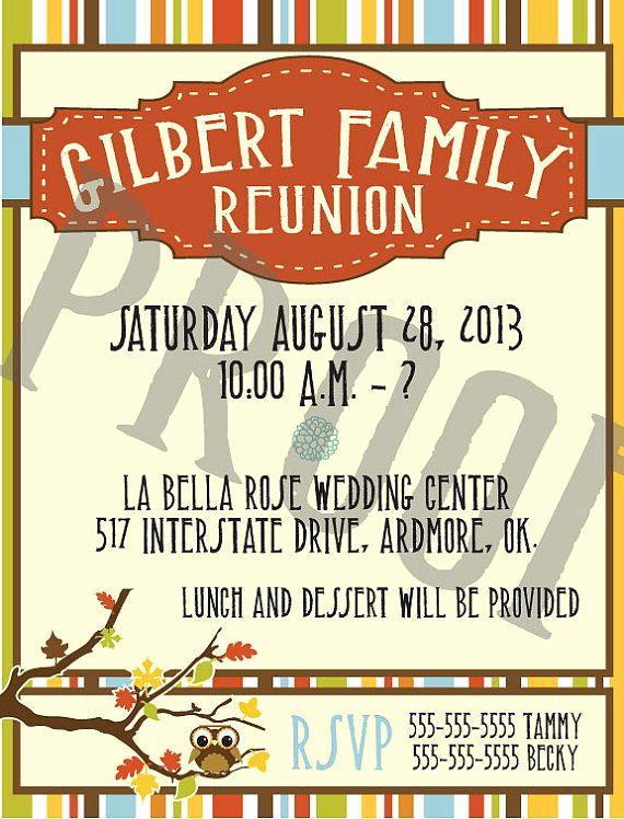 Family Reunion Invitation Ideas Beautiful Fall Family Reunion Invitation Printed or Pdf Download On