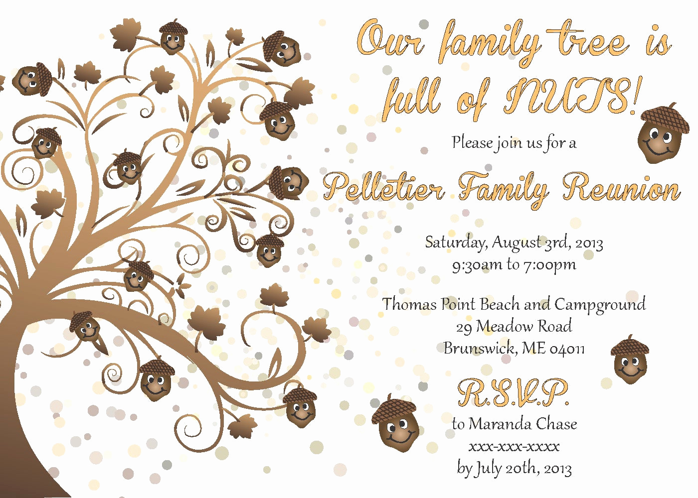 Family Reunion Invitation Ideas Beautiful Family Reunion Invitation by Littlebopress On Etsy