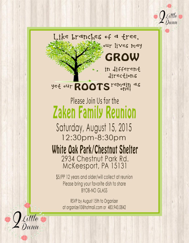 Family Reunion Invitation Ideas Beautiful Family Reunion Invite Printable Digital Invitation