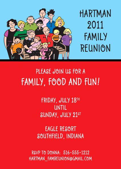 Family Reunion Invitation Ideas Beautiful Party411 Family Reunion Invitations and Party Favors