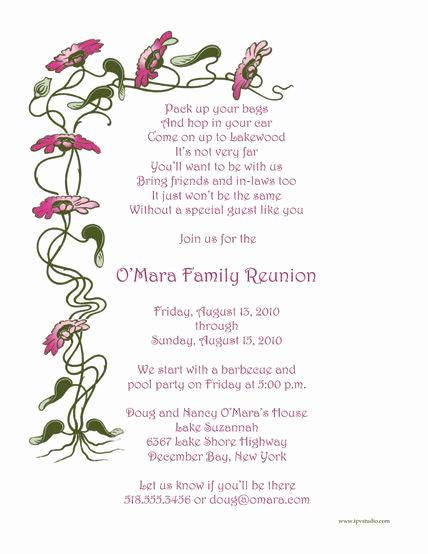 Family Reunion Invitation Ideas Beautiful Pin On Ideas