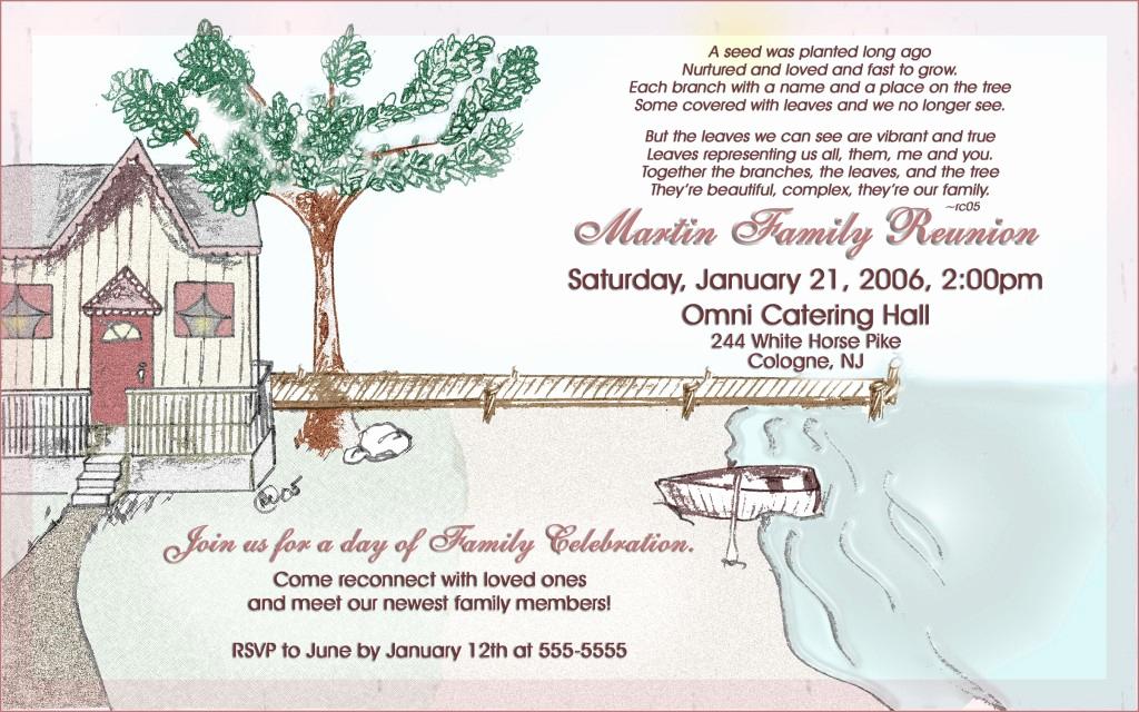 Family Reunion Invitation Ideas Fresh 17 Family Reunion Party Invitations – Party Ideas