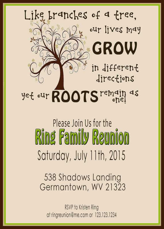 Family Reunion Invitation Ideas Luxury Family Reunion Invite Swirly Tree Printable by 2littledunn