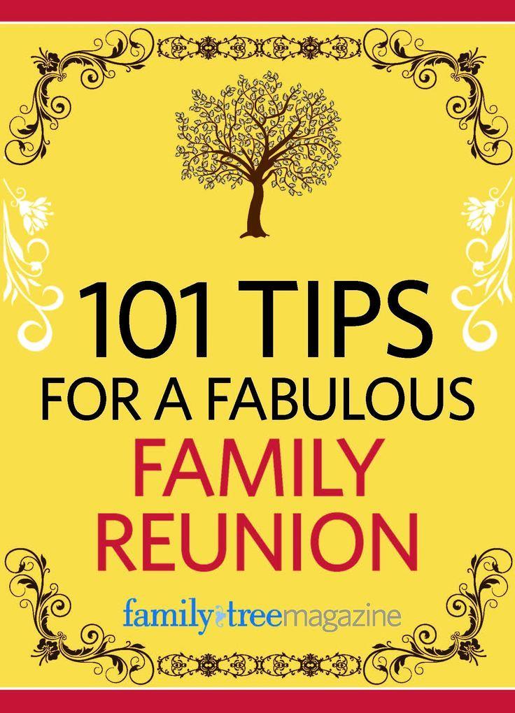 Family Reunion Invitation Ideas Unique 101 Tips for A Fabulous Family Reunion E Book