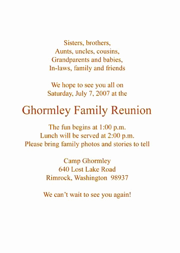 Family Reunion Invitation Letter Best Of 22 Best Family Reunion Invitations Images On Pinterest