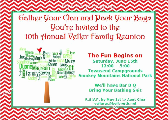 Family Reunion Invitation Letter Elegant Family Reunion Invitation Wording