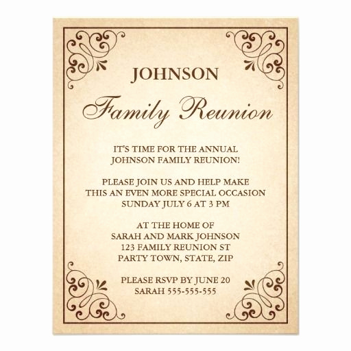 Family Reunion Invitation Letter Inspirational Family Reunion Invitations